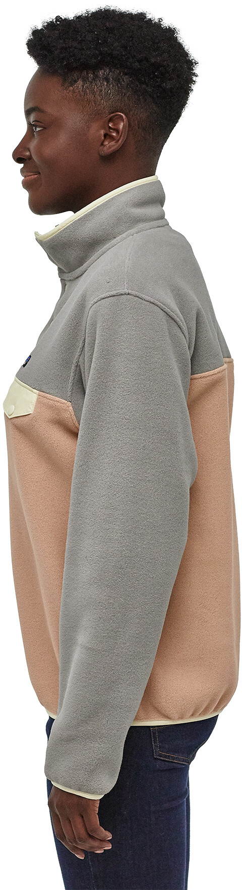 new products 92bb6 8b4ff Patagonia Lightweight Synchilla Snap-T Pullover Damen rosewater